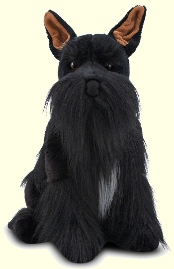 Stuffed Miniature Schnauzer