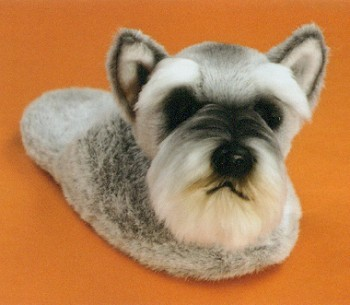 stuffed toys - Stuffed Schnauzer Slippers - Dogs