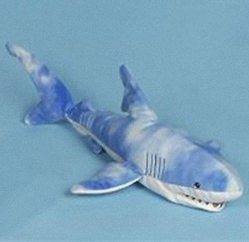 stuffed plush blue shark a big lifelike plush blue shark stuffed ...