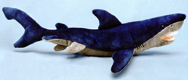 Big Stuffed Plush Mako Shark Soft From Pictures