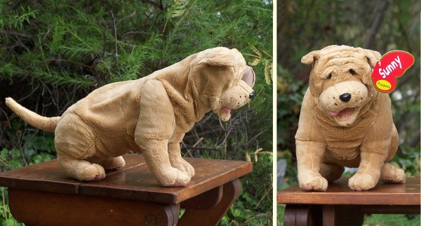 Shar Pei Puppy Stuffed Animal