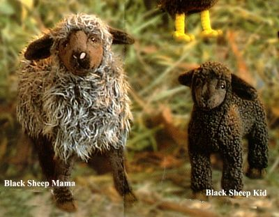 Stuffed Black Sheep