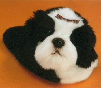 Stuffed Shih Tzu Slippers