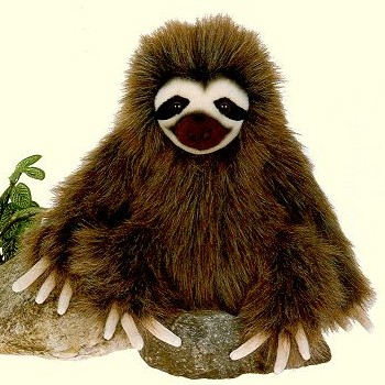 Fiesta Stuffed Plush Three-Toed Sloth