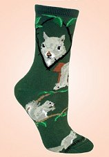 Squirrels on Green from CritterSocks.com