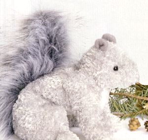 Nutlee Stuffed Plush Gray Squirrel