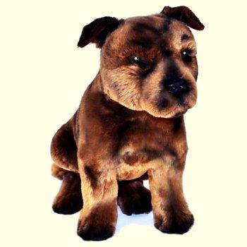 Plush Sitting Staffordshire Terrier Stuffed Animal