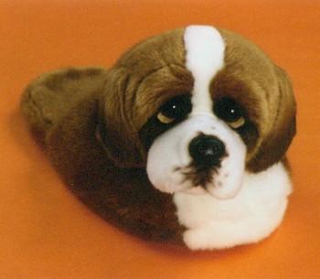 stuffed toys - Stuffed St Bernard Slippers - Dogs