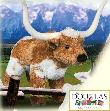 stuffed toys - Stuffed Longhorn Steer - Farm Animals
