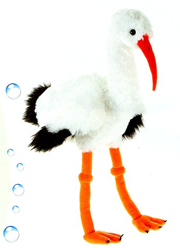 stuffed toys - Stuffed Stork - Birds