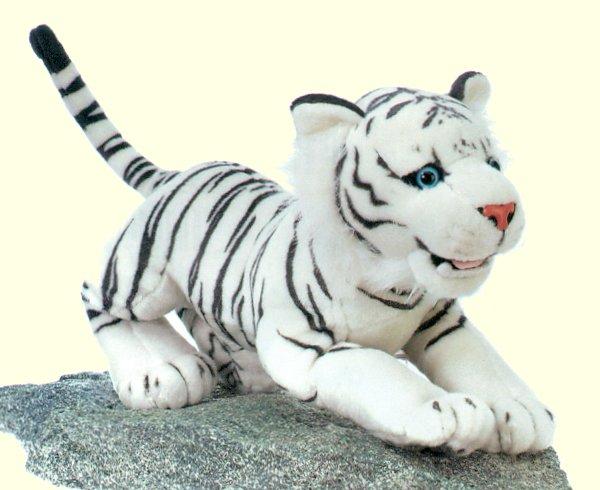 Plush White Tiger Cub Stuffed Animal