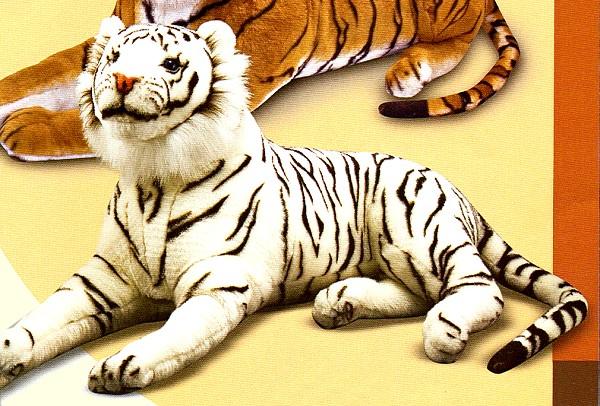 stuffed toys - Stuffed White Tiger - Jungle Cats