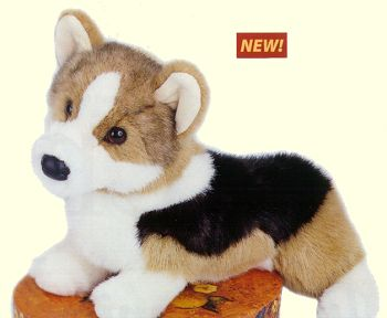 Kirby the Stuffed Tri Corgi