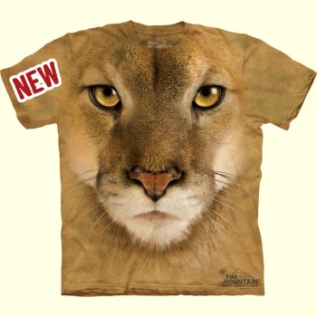 stuffed toys - Cougar Face T-Shirt - Jungle Cats