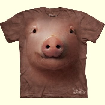 stuffed toys - Pig Face T-Shirt - Farm Animals
