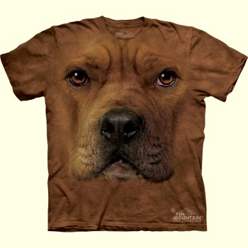 stuffed toys - Pit Bull Face T-Shirt - Farm Animals