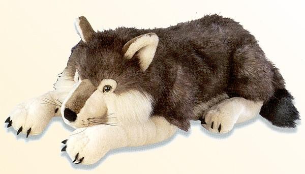 Stuffed Plush Timber Wolf