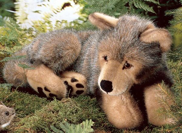 Plush Wolf Cub Stuffed Animal