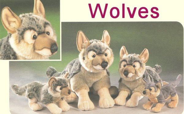 Stuffed Wolf - Wolf Wildlife