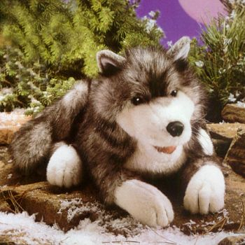 Stuffed Plush Timber Wolf