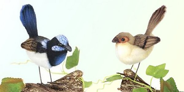 stuffed toys - Stuffed Wren - Birds