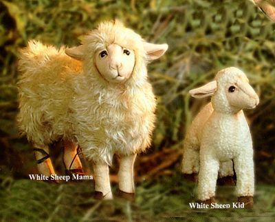 Stuffed White Sheep